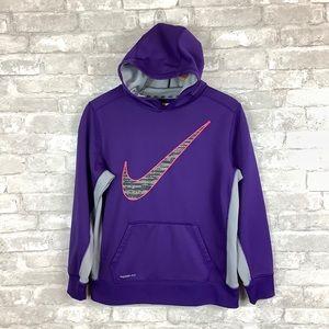 Nike Therma-Fit Hooded Sweatshirt Purple Youth XL